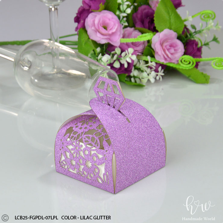 Paper Favor Boxes Leaf Invitation Sweet Box Hmw Paper