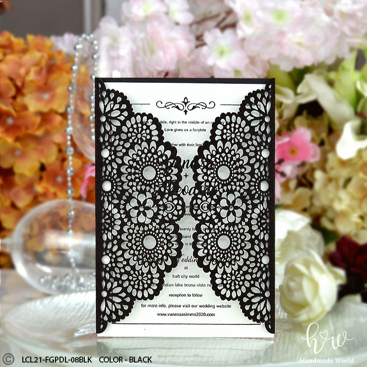 Laser Cut Card Exporters Of Diy Invitations Hmw Paper