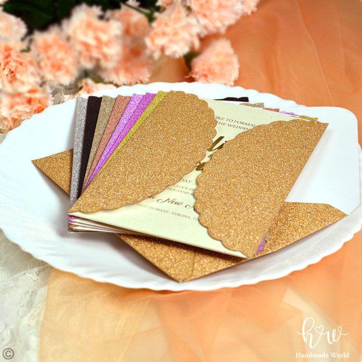 Matchy Matchy Letterpress Invite And Handmade Envelope: Handmade Marriage Invitation