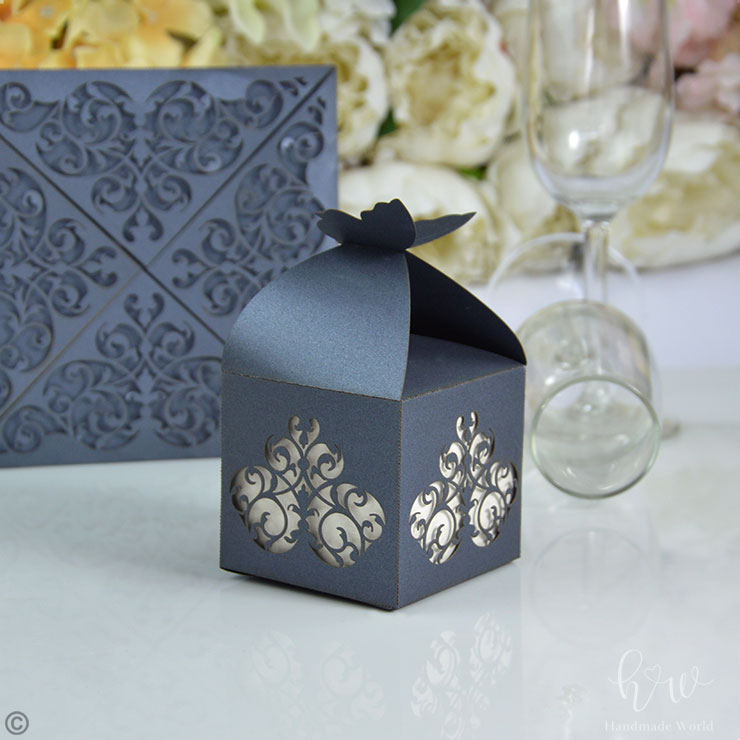 Mild Damask Glance Laser Cut Choclate Box Lcb18 Cs
