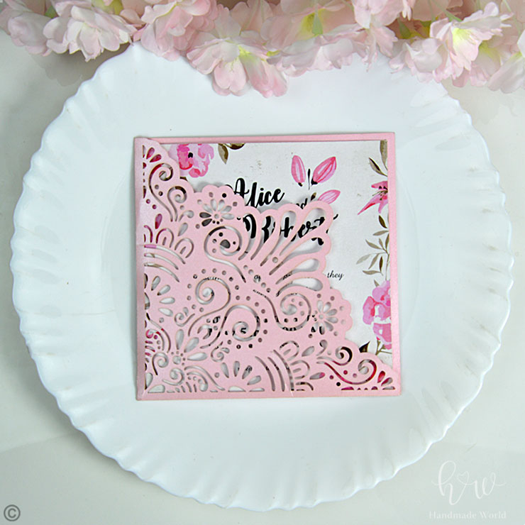 Shimmer Die Cut Cheap Engagement Invitations Lcsh3 Cs