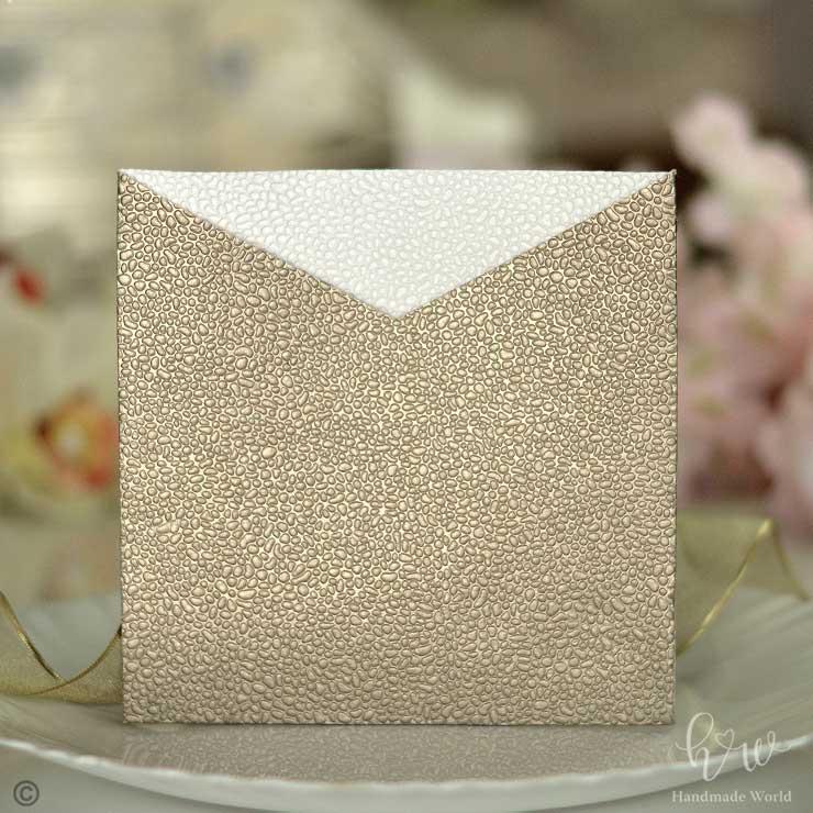 Sparkling Small Pebble Brighten Embossed Paper Unusual Invitations Sq Sngv03