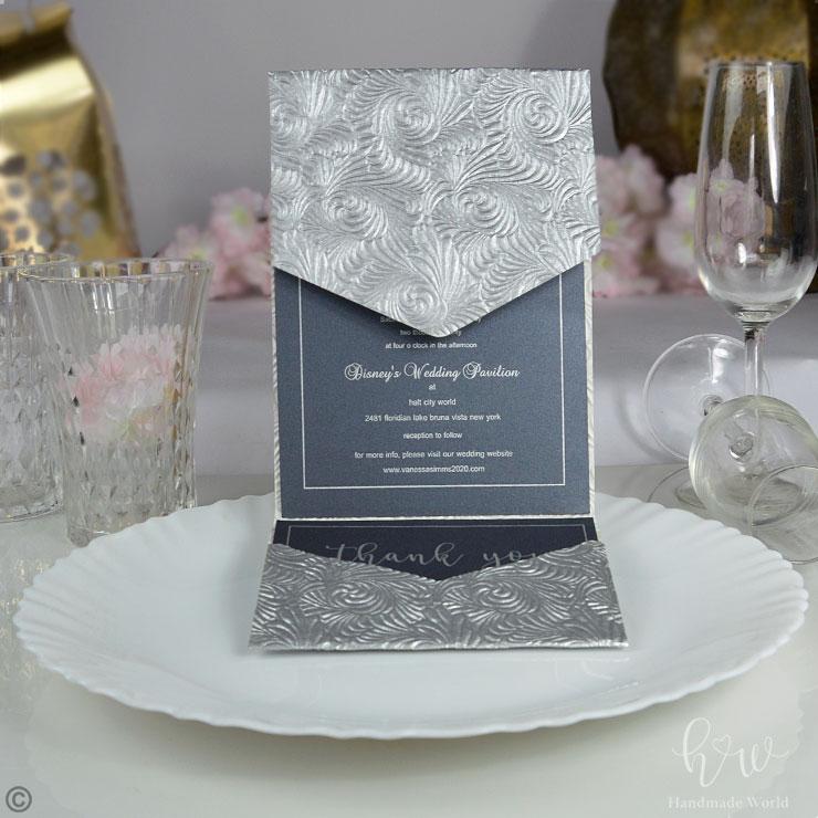 beige wedding invitation  ring ceremony card  hmw paper